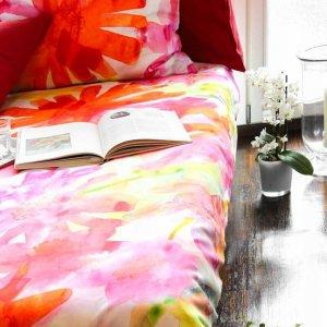 Mako-Satin-Bettwäsche Sommerblume