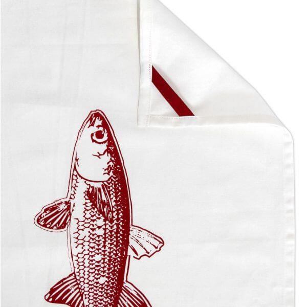 Geschirrtuch mit Fisch