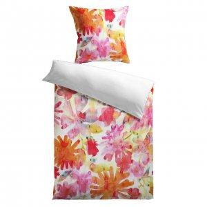 Satin-Bettwäsche Sommerblume