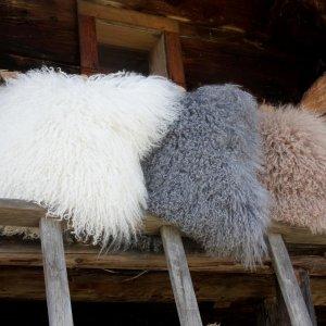 Schaffell Mongolia Dekokissen