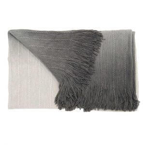 Strickdecke Farbverlauf grau