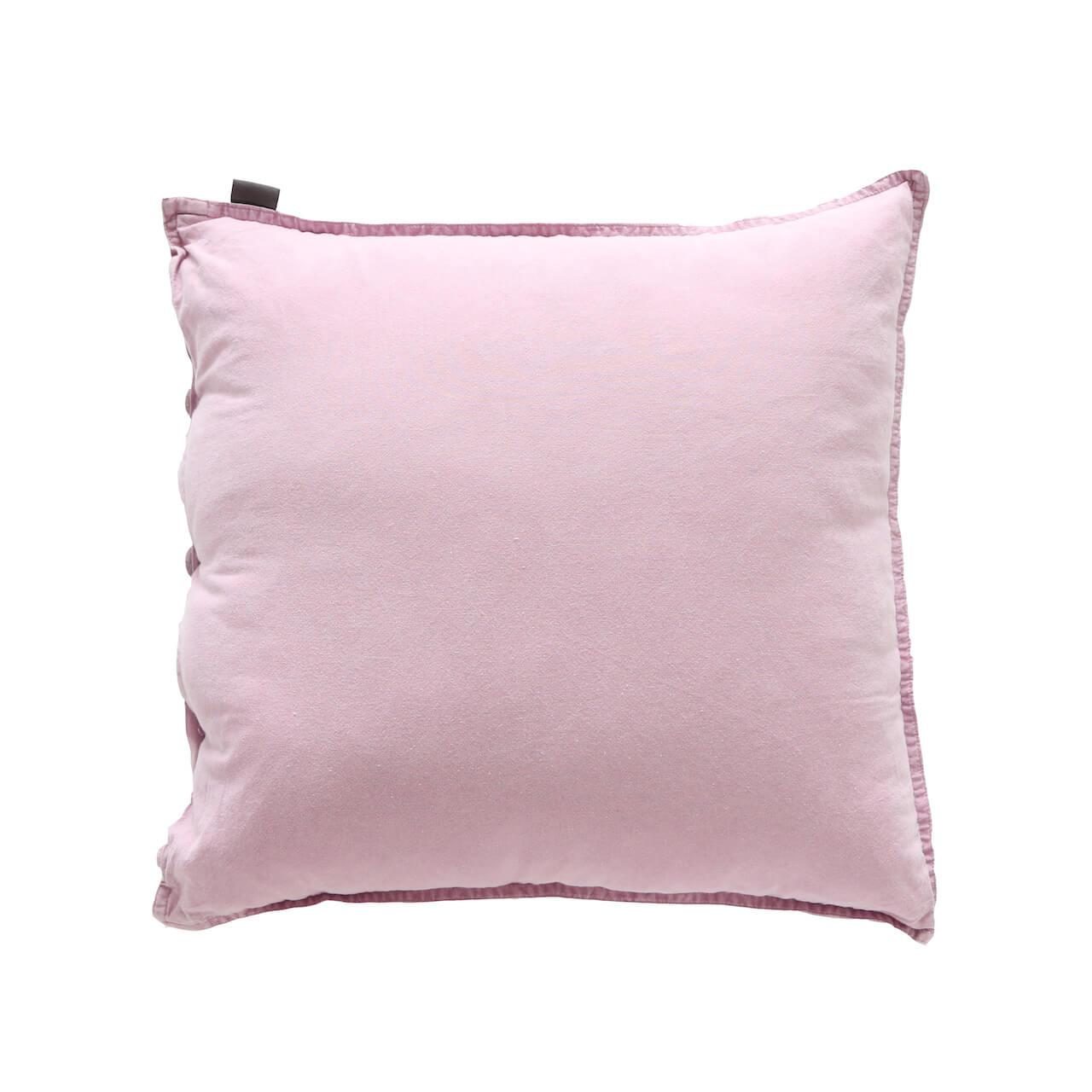 Kissenbezüge Vintage Washed Cotton Mit Knöpfen 2x 50x50 Cm Altrosa