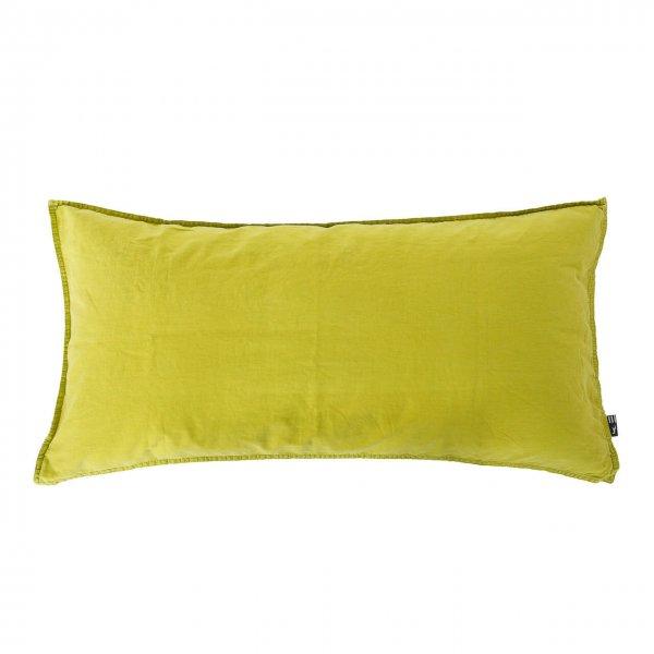 Kissenbezug Vintage Washed Cotton 40x80 cm limone