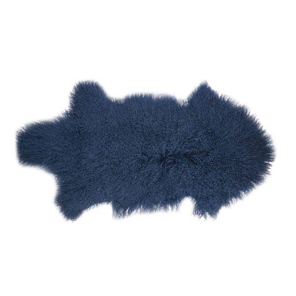 Schaffell blau