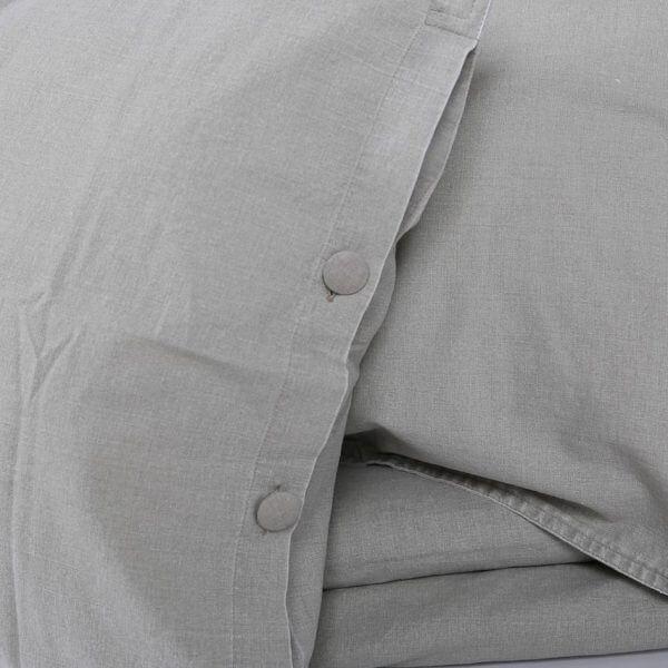 Kissenbezug Vintage Washed Cotton grau