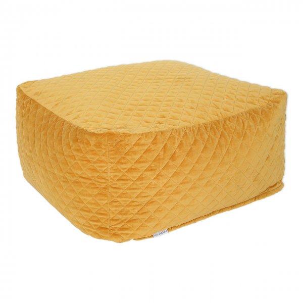 Sitzsack Samt gelb