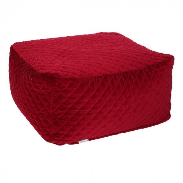 Sitzsack Samt rot