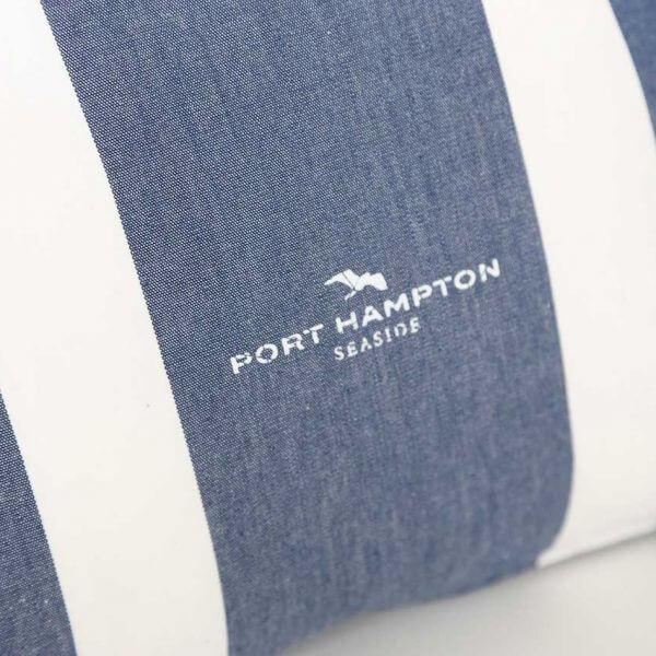 Kissenhülle Port Hampton Stripe blau und weiß