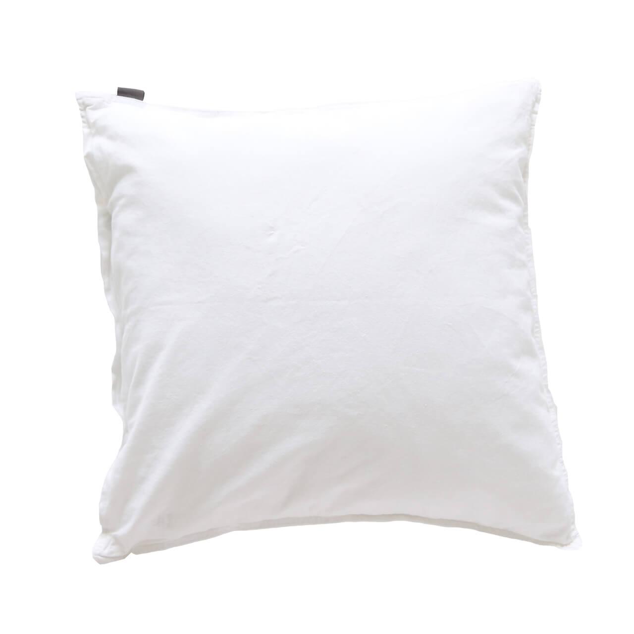 Kissenbezüge Vintage Washed Cotton Mit Knöpfen 2x 50x50 Cm Weiß