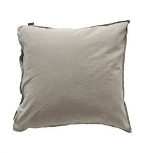 Kissenbezug Vintage Washed Cotton 50x50 cm taupe