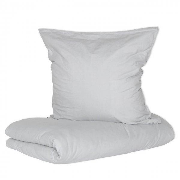 Bettwäsche Vintage Washed Cotton mit Knöpfen grau