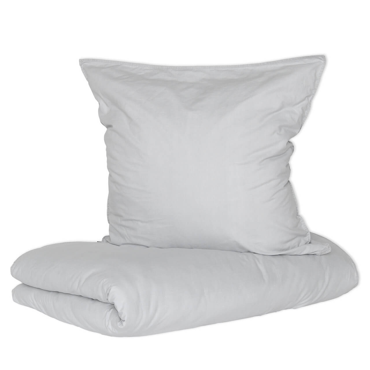 Bettwäsche Vintage Washed Cotton Mit Reißverschluss Grau Homesphere