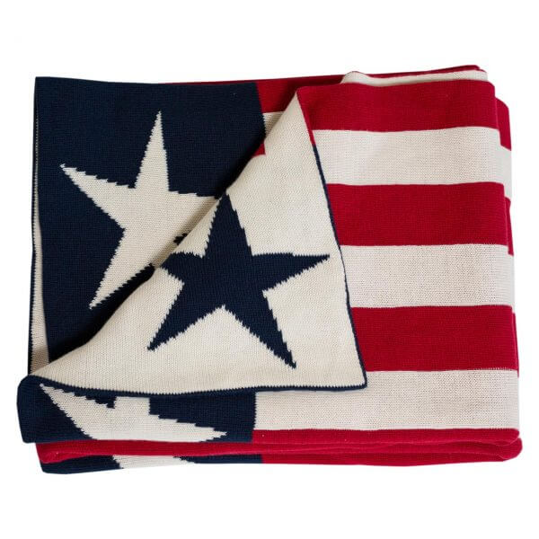 Strickdecke Stars & Stripes