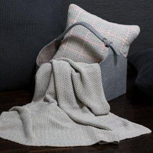 Strickdecke Baumwolle Moss Stitch