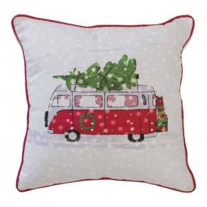 Dekokissen Weihnachtsbus (mit Füllkissen)