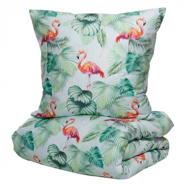 Satin-Wendebettwäsche Flamingo Coral