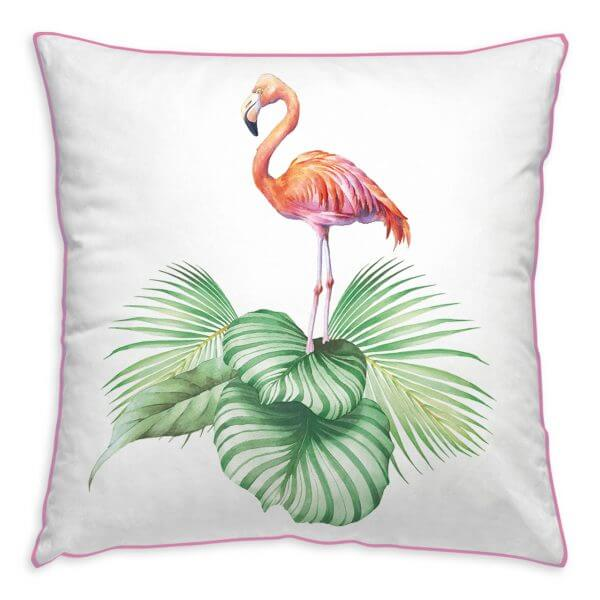Kissenhülle Jungle Flamingo