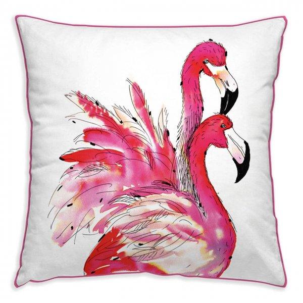 Kissenhülle Pink Flamingos