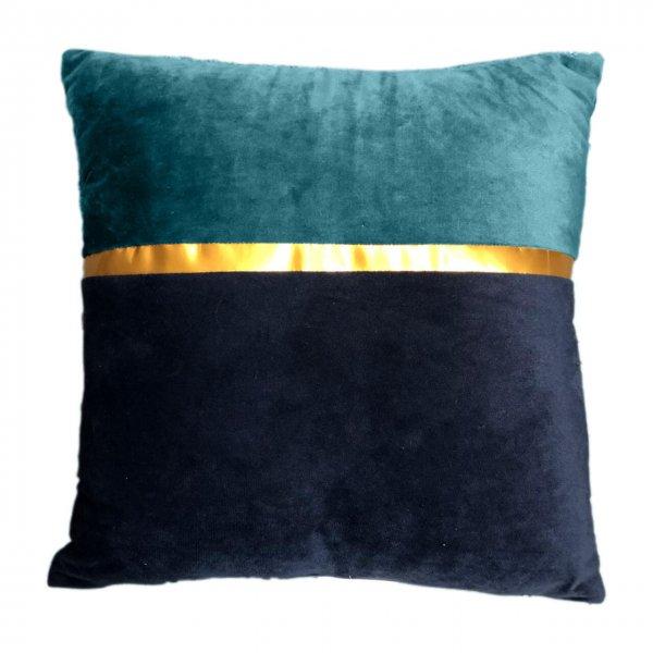 Samt-Kissenhülle Gold Stripe