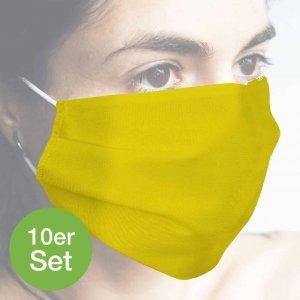 Baumwollmaske gelb 10er Set