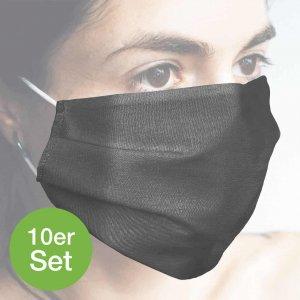 Baumwollmaske grau 10er Set